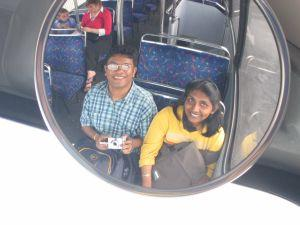 Bejoy | Just as the driver saw us. | Dublin Bus