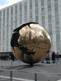Andrea | Globe in front of UN building | New York, NY