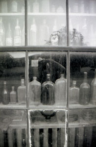 troy | bottles and reflection | fort qu'appelle, saskatchewan