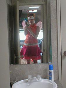 Vera Fleischer | Pink and orange at Burning Man | Black Rock City, NV