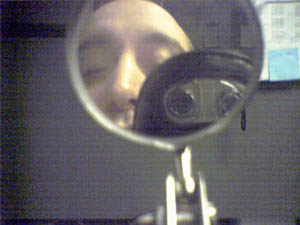 Jeff | Mini mirror on a rod #2 | Wilmington, DE