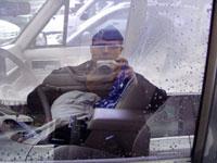 Jason | Window of my jeep | Newport, Rhode Island