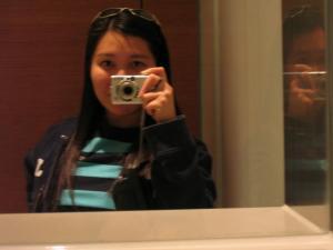 Nikki | in a strange Hong Kong bathroom | IFC Mall Bathroom, Hong Kong
