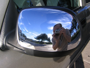 Mike | Ironic Mirror | Exxon gas station, Austin