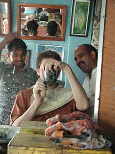 Jon Meyer   Shaving off my moustache   Pushkar, India