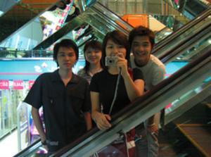 Rachelle | escalators | KL Plaza, KL