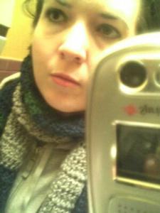 Jessica Pierce | lots of scarves | Decatur. Sweet Melissa's bathroom