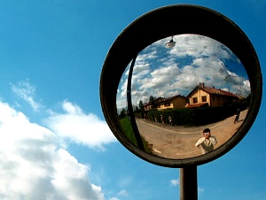 Fabio Pani | Traffic mirror at the countryside | Cernusco sul Naviglio, Italy
