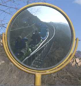 George Aye | riding down the great wall | Badaling, near Beijing, China