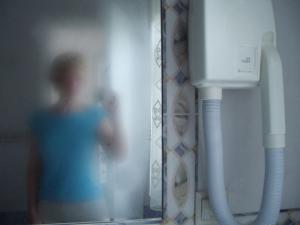 lucy spink   Hmmm... shower!   Nissaki, Corfu