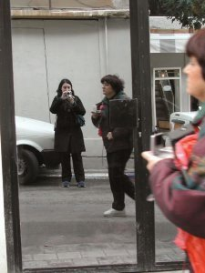Racheli Zusiman | Mirror reflection in Neveh Tzedek | Neveh Tzedek Neighbourhood in Tel Aviv, Israel
