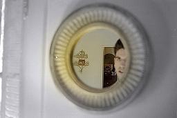 Steven Hartline | Gold Mirror | Front Door, Home, Los Angeles, CA