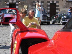 Bob DuCharme | Ferrari outside the Duomo | Orvieto, Italy
