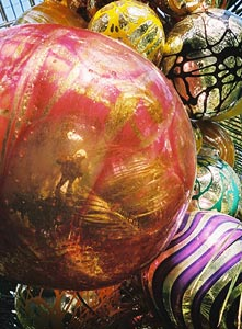 Jeremy Dennis | chihuly's gigantic shiny baubles | Temperate House, Kew Gardens, London
