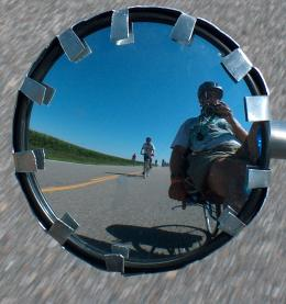 Larry Wydra | Cycling Ragbrai | Some road in Northern Iowa, USA