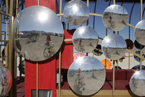 Dawn Bustanoby   Mirrors on the playa   Black Rock City, Nevada