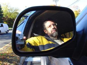 Jim Sannerud | Driving to Work, Side View Mirror | Stamford, CT