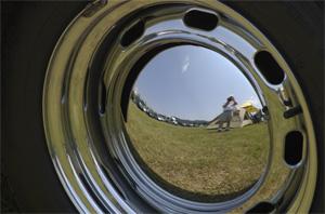Mark J. Smith | Porsche 356 Hubcap | Lime Rock Park