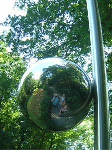 Scott Weir | mirror ball | Broomhill Sculpture Gardens, Devon, England.