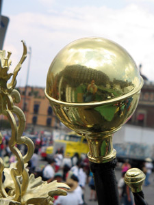 Ruth Jarquin | sphere in zocalo | Mexico City