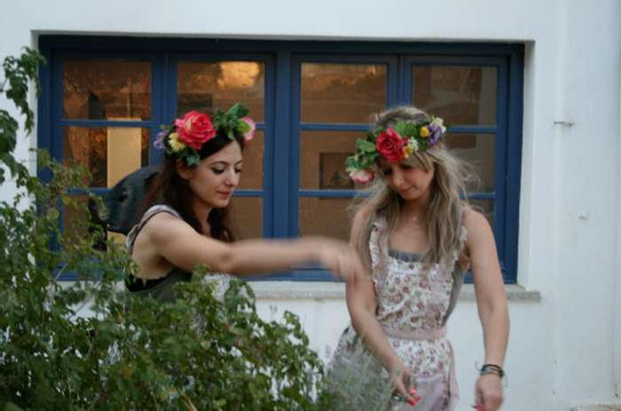 Mykonos Biennale  -  Perfomance at the Mykonos Annex / School Fine Arts - screen shot