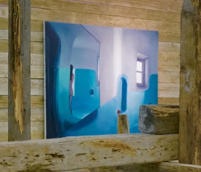 Mykonos Biennale  -  Woman in the shower - screen shot