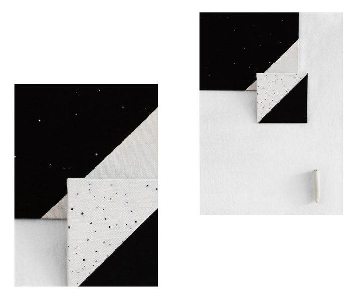 Mykonos Biennale  -  White Paint Black Canvas / White Canvas Black Paint - screen shot