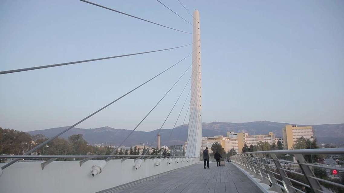 Mykonos Biennale 2015 - Film Festival -  The outcasts of the Calatrava Bridge - screen shot
