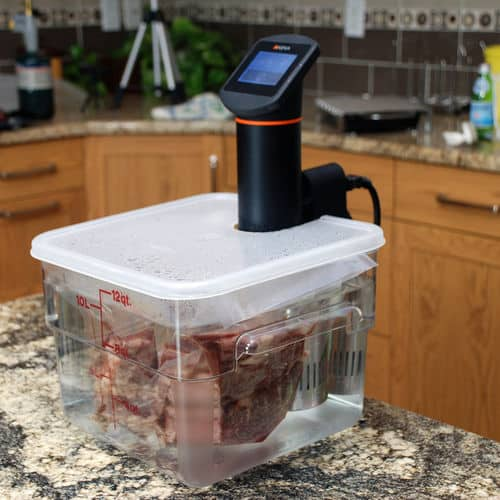 Sous vide steak in anova