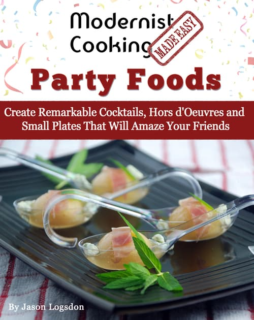 Modernist cooking party foods cover big