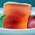 Strawberry daiquiri agar gel close
