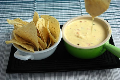 Shrimp pepper queso sodium citrate