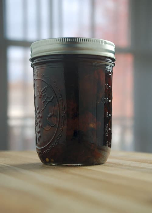 Sun dried tomato chile infused vodka