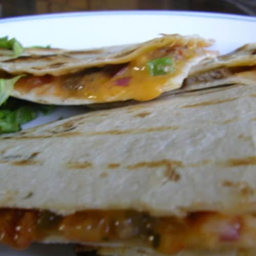 Sous vide quesadillas