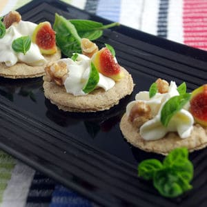 Whipped goat cheese flatbreads