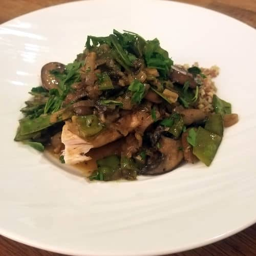 Sous vide turkey marsala side