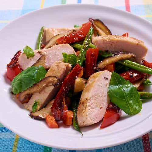 Sous vide chicken breast sauteed vegetables 3