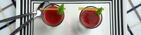 Watermelon Soup Recipe With Pickled Rind image