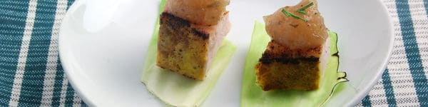 Pork with Roasted Apple Pudding  Recipe image