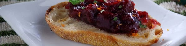 Cranberry Chutney Crostini  Recipe image