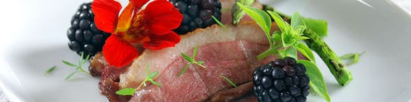 Sous Vide Duck Recipe With Blackberry-Port Pudding image