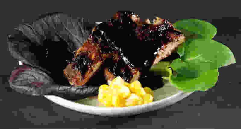 Balsamic vinegar syrup ribs