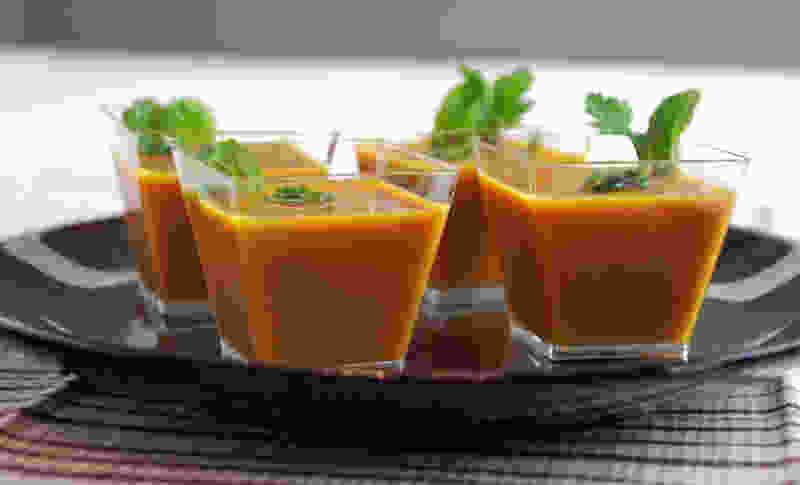 Ginger carrot soup side