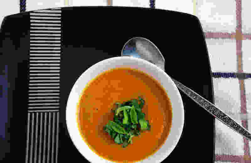 Pressure cooked carrot soup