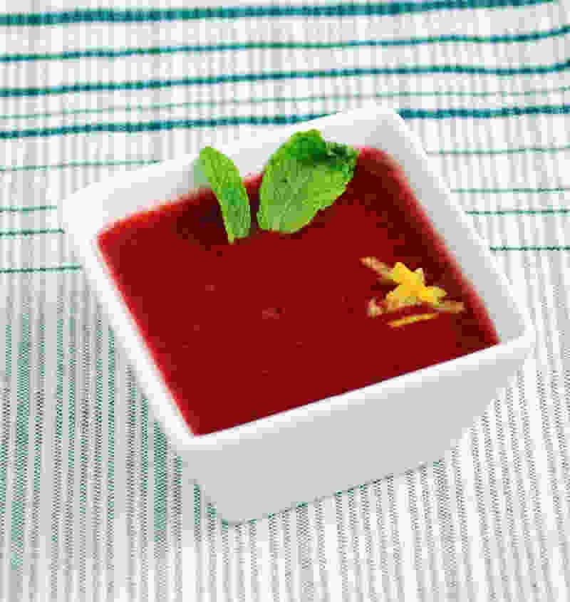 草莓泡沫汤