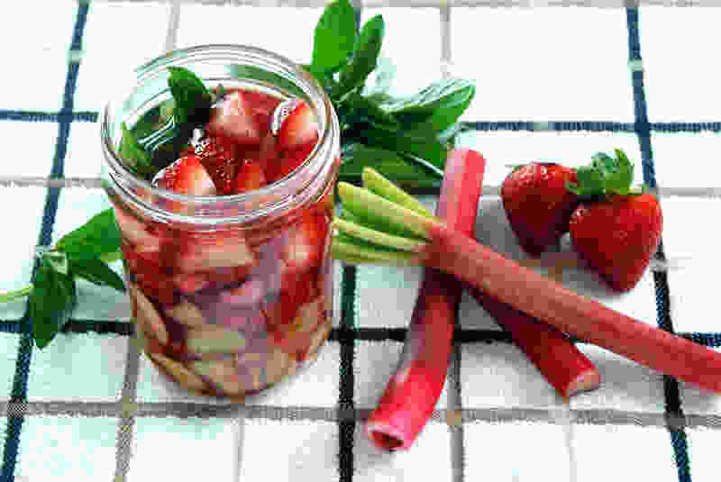 Strawberry rhubarb infused vinegar higher