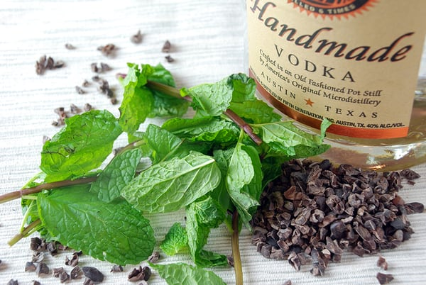 Mint chocolate infused vodka2