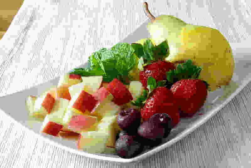 水果沙拉注入肉汤成分