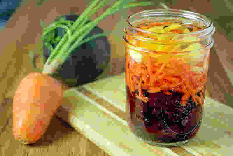 Beet carrot ginger infused vinegar