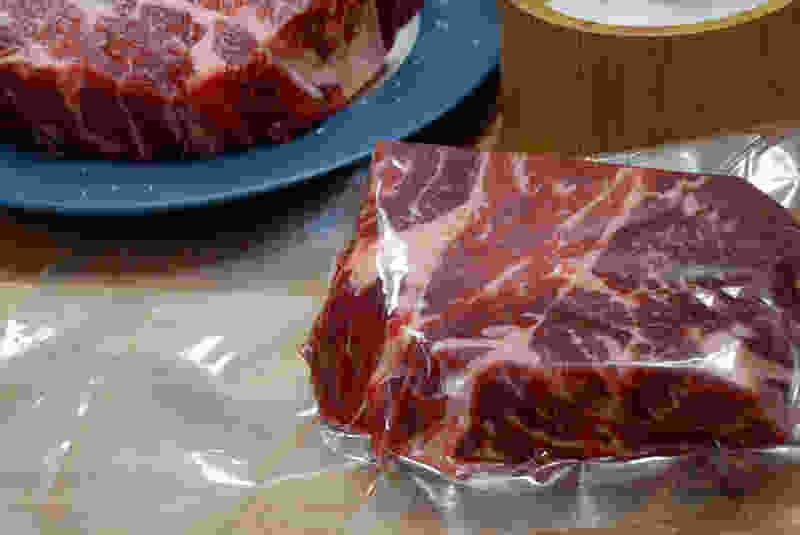 真空烹调牛排密封